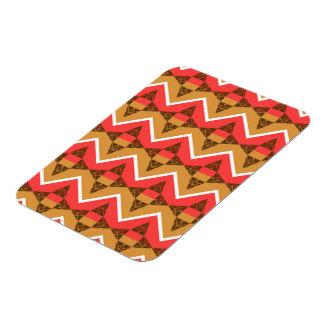 Chevron and triangles rectangular photo magnet