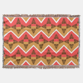 Chevron and triangles throw blanket