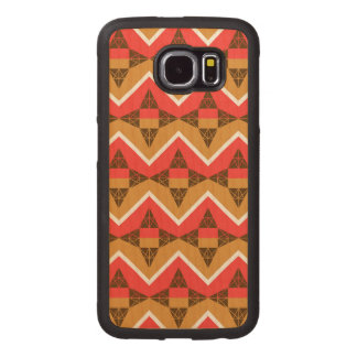 Chevron and triangles wood phone case
