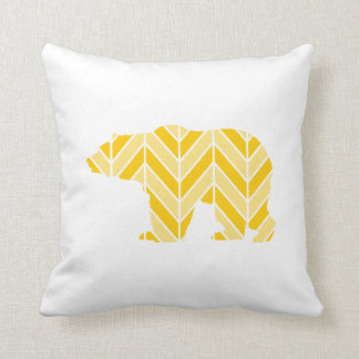 Chevron Bear Throw Pillow