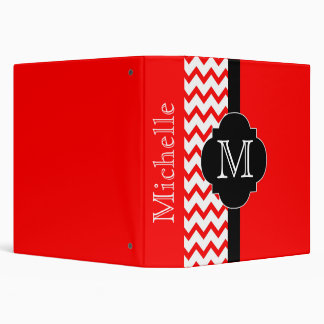 Chevron Binder in Red