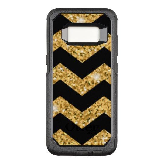 Chevron Black Gold Diamonds OtterBox Commuter Samsung Galaxy S8 Case