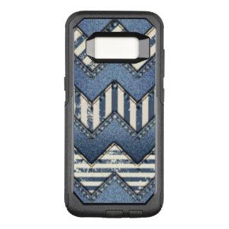 Chevron Blue Jean Pattern Design OtterBox Commuter Samsung Galaxy S8 Case
