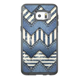 Chevron Blue Jean Pattern Print Design