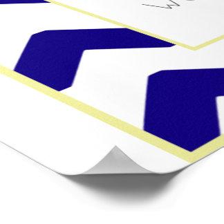 Chevron Blue Print