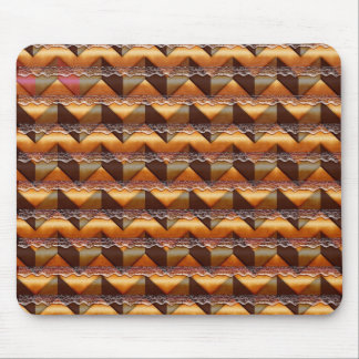 Chevron Brown Lace  Mouse pad