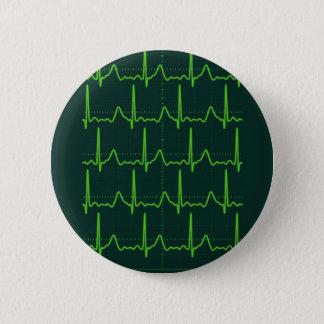 Chevron Cardiac Arrest 2 Inch Round Button