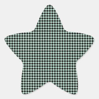 Chevron Checks Seafoam and Black Star Sticker