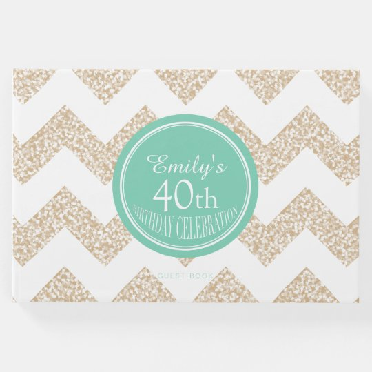 Chevron Choose Colour 40th Birthday Guest Book
