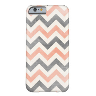 Chevron coral grey geometric iPhone 6 case Barely There iPhone 6 Case