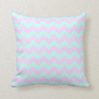 Chevron Cotton Candy Throw Pillow