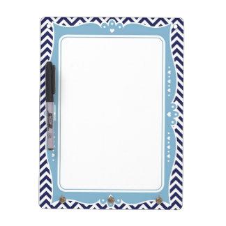 Chevron Decorative Frame Dry Erase Board