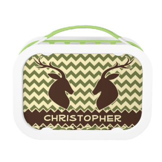 Chevron Deer Buck Camouflage Personalize Lunchboxes