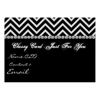 CHEVRON DESIGN BLING Business Card TEMPLATE