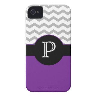 Chevron Design Gray Black Purple iPhone 4/4s case