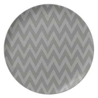 Chevron Dreams grey and ash Party Plates