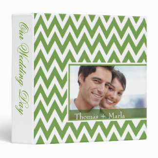 Chevron Dreams Wedding Photo Album | celedon 3 Ring Binders