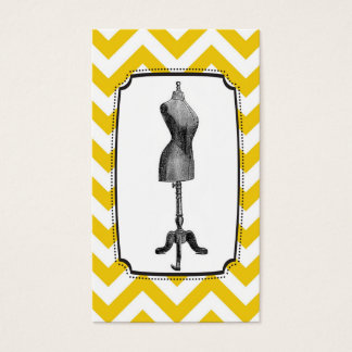 Chevron Dress-form Business Cards