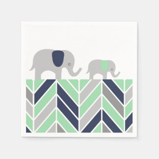 Chevron Elephants Modern Baby Napkin Disposable Napkins