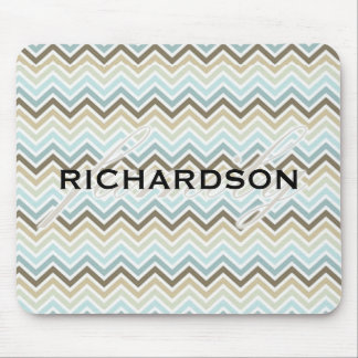 Chevron Family with Family name Mouse Pad