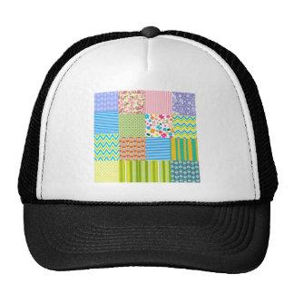 Chevron Floral striped pattern Trucker Hat
