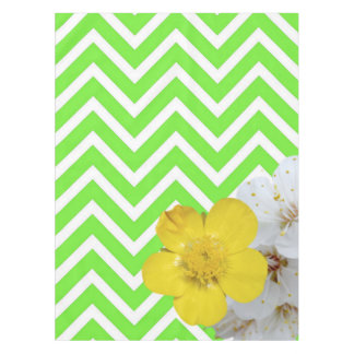 chevron Flower mix green Tablecloth