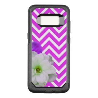 chevron Flower mix lilac OtterBox Commuter Samsung Galaxy S8 Case