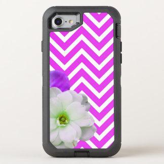 chevron Flower mix lilac OtterBox Defender iPhone 8/7 Case