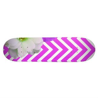 chevron Flower mix lilac Skate Board Decks