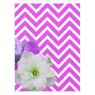 chevron Flower mix lilac Tablecloth