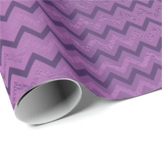 Chevron Glam Lux Purple Amethyst Plum Monochromati Wrapping Paper