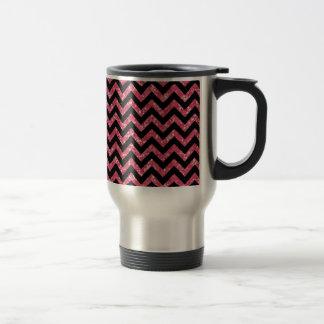 Chevron Glitter Look Travel Mug