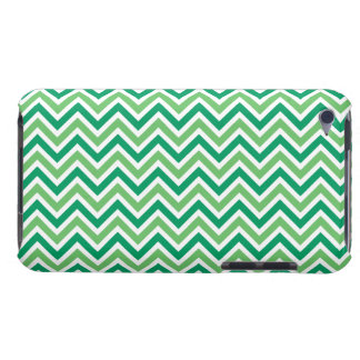 Chevron green zigzag pattern funky fun bright gift barely there iPod covers