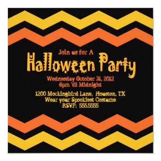 Chevron Halloween Party Invitation