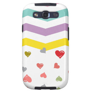 Chevron Hearts Galaxy SIII Cases