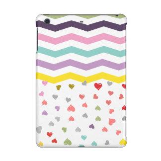 Chevron Hearts iPad Mini Cases