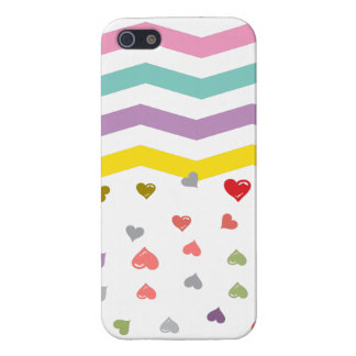 Chevron Hearts Covers For iPhone 5