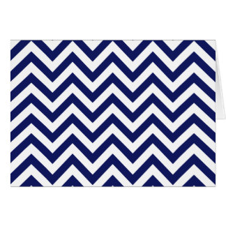 Chevron in Blue and White Card