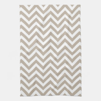 Chevron Kitchen Towel | {Khaki}