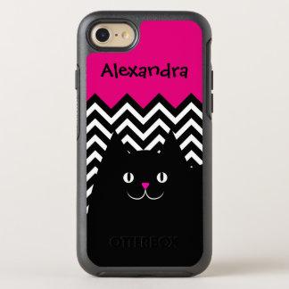 Chevron Kitty Cat OtterBox Symmetry iPhone 7 Case