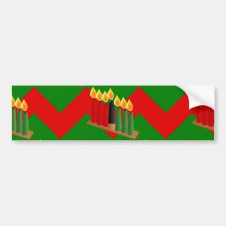 chevron kwanzaa bumper sticker