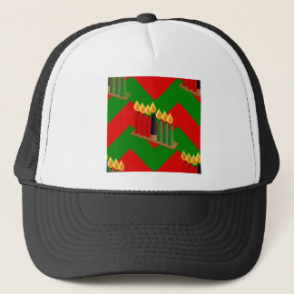 chevron kwanzaa trucker hat
