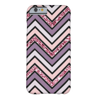 Chevron Lavender Pink & White Barely There iPhone 6 Case