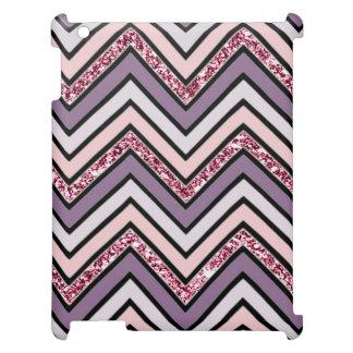Chevron Lavender Pink & White Case For The iPad