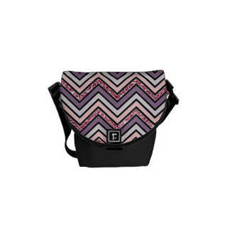 Chevron Lavender Pink & White Courier Bags
