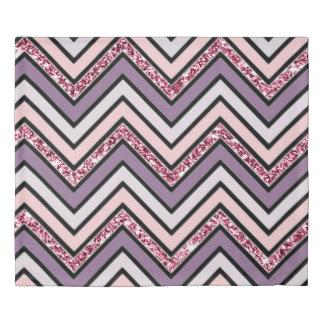 Chevron Lavender Pink & White Duvet Cover