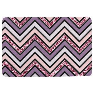 Chevron Lavender Pink & White Floor Mat