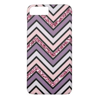 Chevron Lavender Pink & White iPhone 8 Plus/7 Plus Case