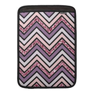 Chevron Lavender Pink & White MacBook Sleeve