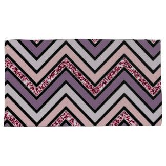 Chevron Lavender Pink & White Pillowcase